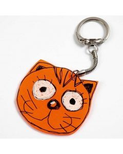 A Keyring Fob made from a Shrink Plastic Sheet Figure