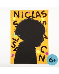 A black Card Silhouette on a decorated Background
