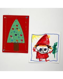 Decorated Christmas Cards made from A5 Card