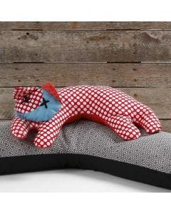A Cat as Neck Rest made from Organic Design Fabric