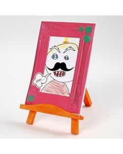 A Cartoon Effect Portrait in an Embossed Card Frame