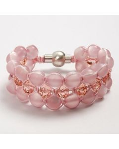 A braided Bracelet made from Resin Beads and Crystal Beads