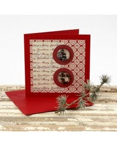 A Christmas Card with Cabochons and Vivi Gade Design Paper
