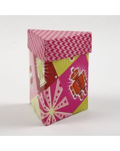 A decoupaged triangular Box with a Lid