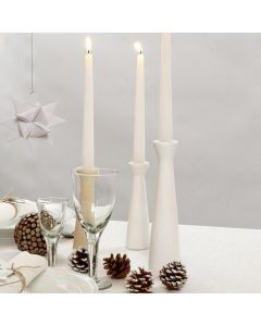 Wooden Candlesticks painted white