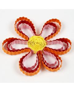 A Quilling Flower made from wavy Paper Strips