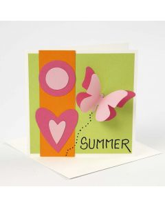 A Greeting Card with Shapes made using a Template on the Big Shot Die-Cutting Machine