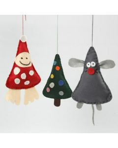 Christmas hanging Decorations made from Felt with Stuffing