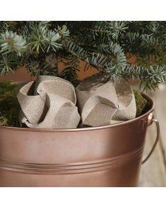 Click Ornaments covered with glittery Copper Design Paper