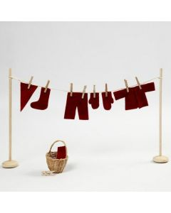 A miniature Washing Line with the Elf's Clothes
