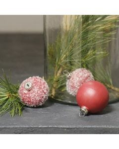 Terracotta Baubles, painted and decorated with Glitter