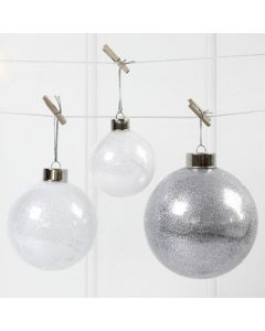 Glass Baubles with Glitter