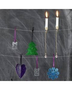 Transparent Acrylic Hanging Decorations with Glass Paint