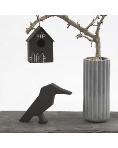 A Bird House with Blackboard Paint for Decoration with Chalk