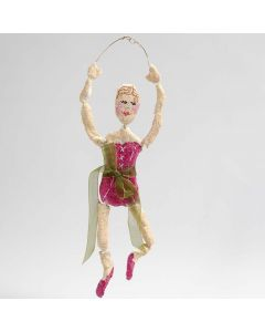 A Ballerina made from gold Bonsai Wire covered with  Papier-mâché Pulp