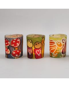 Candle Holders with a decorated Watercolour Paper Waistband