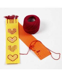 A Book Mark from embroidered Cross Stitch Card