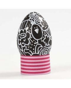 Doodling on a black Plastic Egg