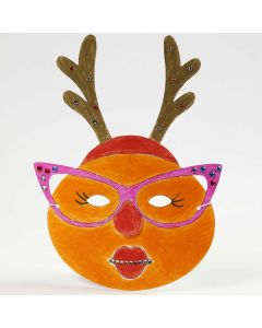 A painted and decorated Mask for Christmas
