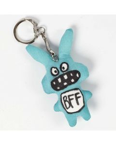 Textile Decoration on Fabric Animals on a Keyring