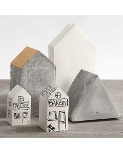 Houses cast in folding Moulds