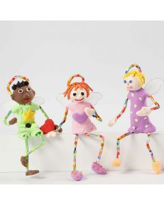 Angels made from Pipe Cleaners, Silk Clay and Nabbi Fuse Beads