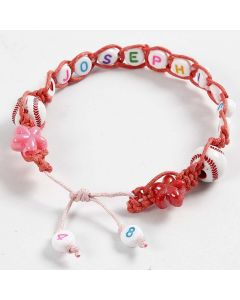 A braided Bracelet with Letter Beads