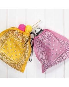 A Shoe Bag made from Bandanas