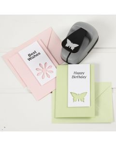 Greeting Cards decorated with punched-out Card