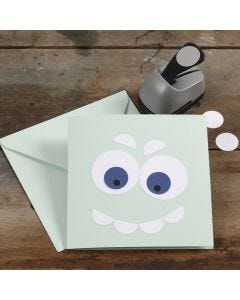 A Greeting Card decorated with punched-out Card Circles