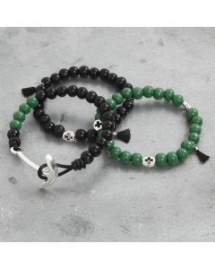 Bracelets with wooden Beads and Decorations