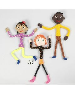 Magnetic Figures from Pipe Cleaners with Silk Clay and Foam Clay