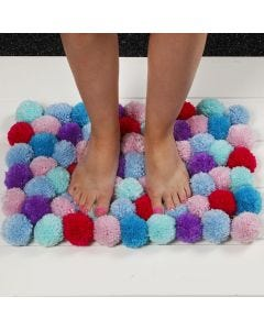 A soft Mat made from Pom-poms
