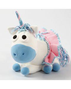 A Silk Clay Unicorn with a Skirt