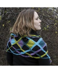 A Wet-Felted Scarf