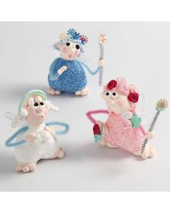 Fairies modelled from Silk Clay and Foam Clay
