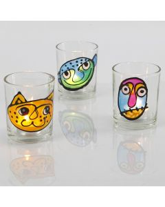 Candle Holders with Window Color