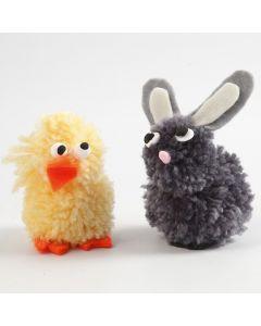 Pom-pom Animals from Yarn and Felt