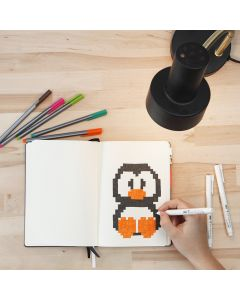 Pixel Art in a Bullet Journal