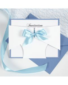 A Christening Invitation with a Nappy