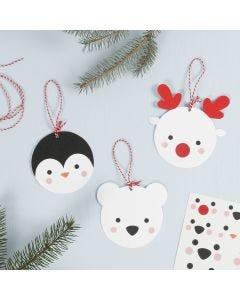 Hanging Card Polar Animal Decorations