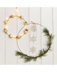 Decorated Metal Rings