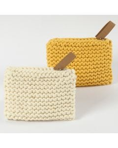 A Purse made from Cotton Tube Yarn