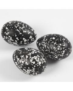 Eggs decorated with Terrazzo Flakes
