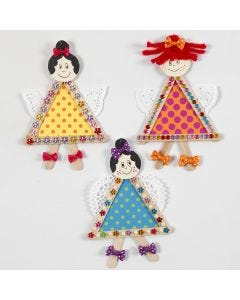 Fairies from Ice Lolly Sticks, Card and Doilies