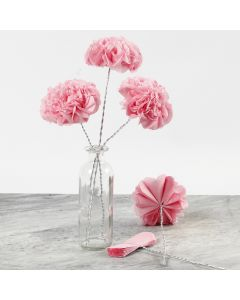Tissue Paper Flowers on Bonsai Wire