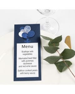 A Menu Card with Card Balloons decorated with Deco Foil