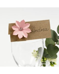 A Place Card decorated with a 3D Effect Card Flower