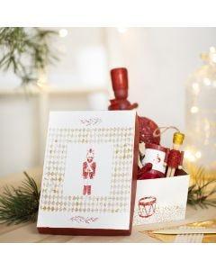 A Box decorated with Paint, Nutcracker Glue Foil Designs and Deco Foil