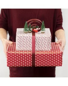 Gift Decoration with a decorative Ribbon Bow and mini Figures